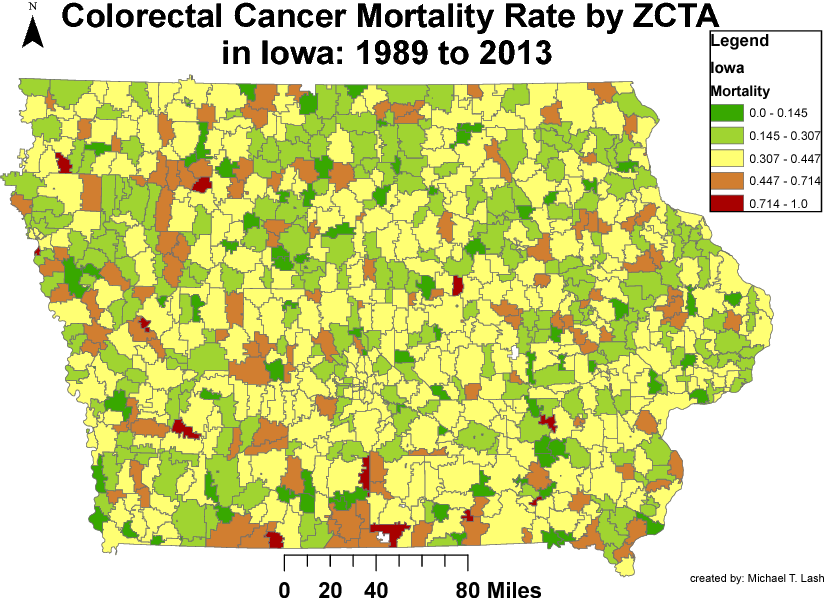 Figure 1 for Deriving Enhanced Geographical Representations via Similarity-based Spectral Analysis: Predicting Colorectal Cancer Survival Curves in Iowa
