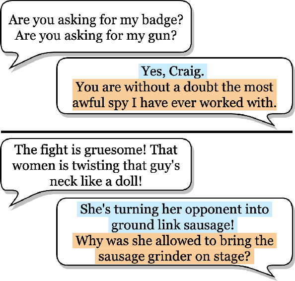 Figure 1 for Grounding Conversations with Improvised Dialogues