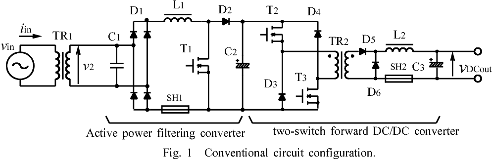 Novel double chopper type AC-DC power supply with reduced DC voltage