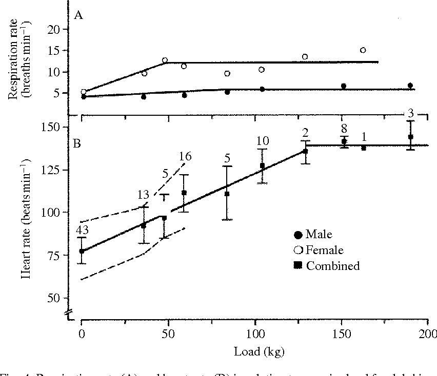 Figure 4 from the physiology of bottlenose dolphins tursiops respiration rate a and heart rate b in ccuart Images