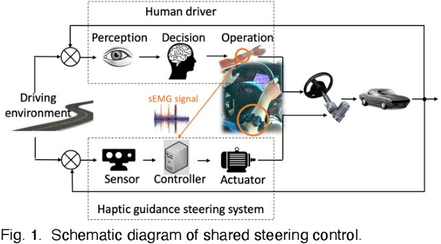 Figure 1 for Adaptive driver-automation shared steering control via forearm surface electromyography measurement
