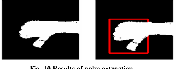Fig. 10 Results of palm extraction