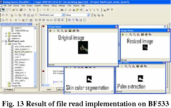 Fig. 13 Result of file read implementation on BF533
