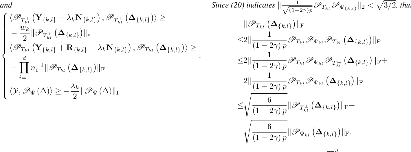 Figure 2 for Robust Tensor Recovery using Low-Rank Tensor Ring