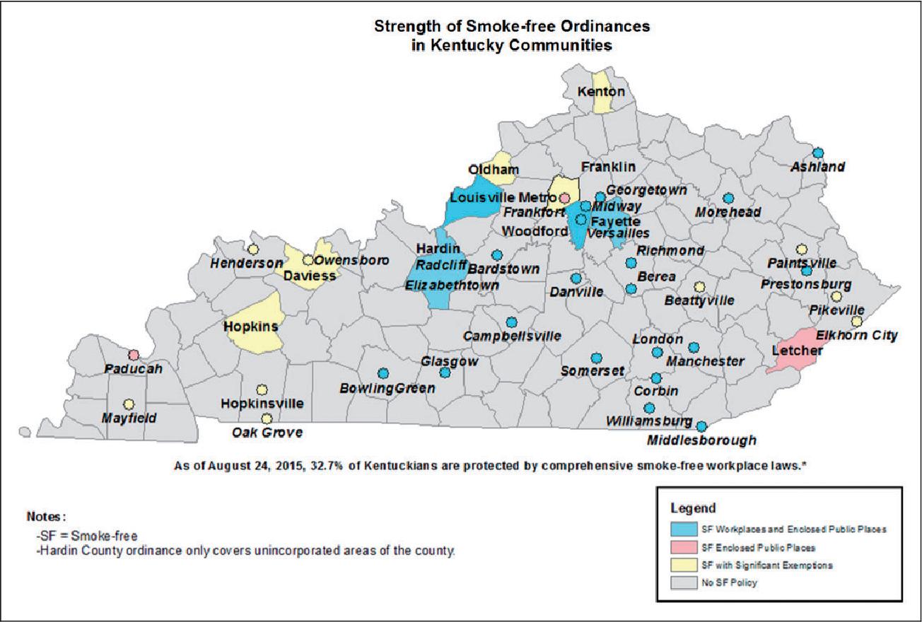 A Policy Analysis of Smoke-Free Legislation in Kentucky  - Semantic