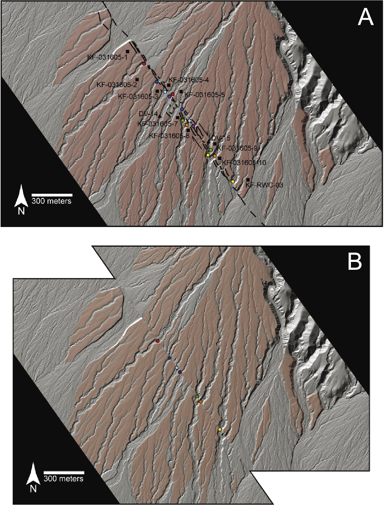 Figure 1 from along the northern Death Valley fault zone