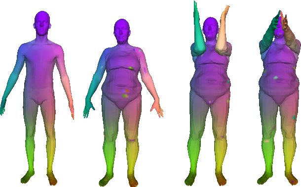 Figure 1 for FeaStNet: Feature-Steered Graph Convolutions for 3D Shape Analysis