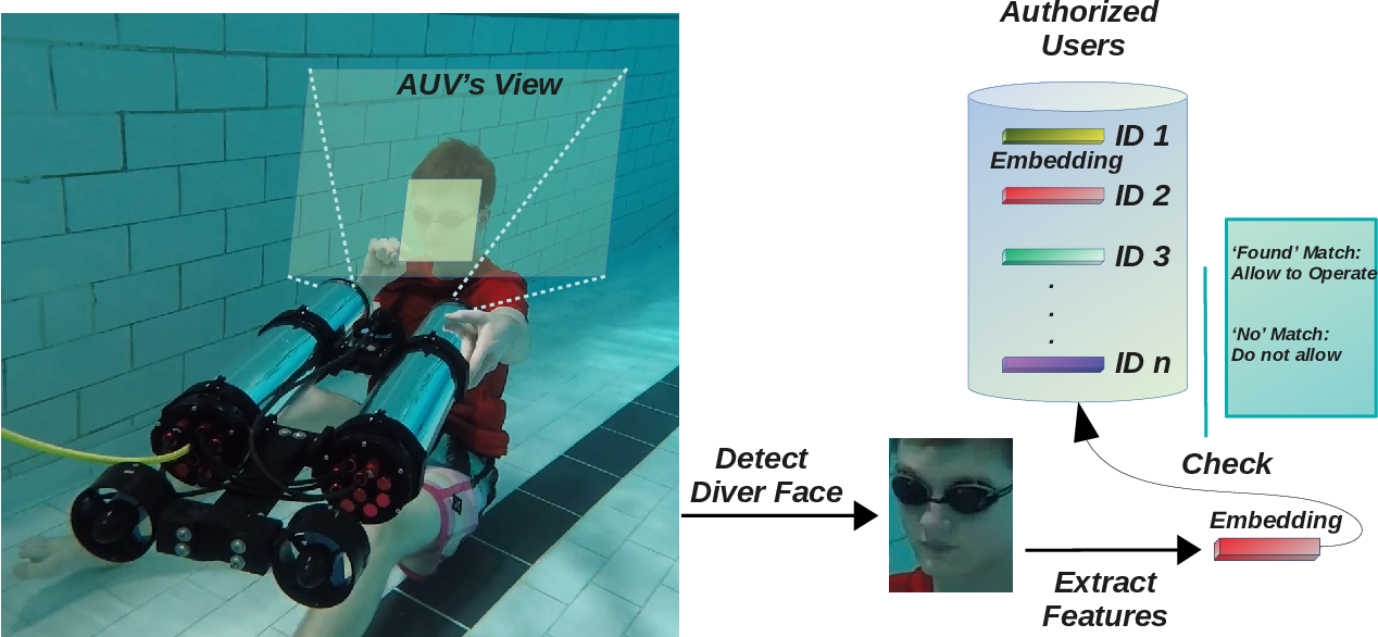 Figure 1 for Visual Diver Face Recognition for Underwater Human-Robot Interaction