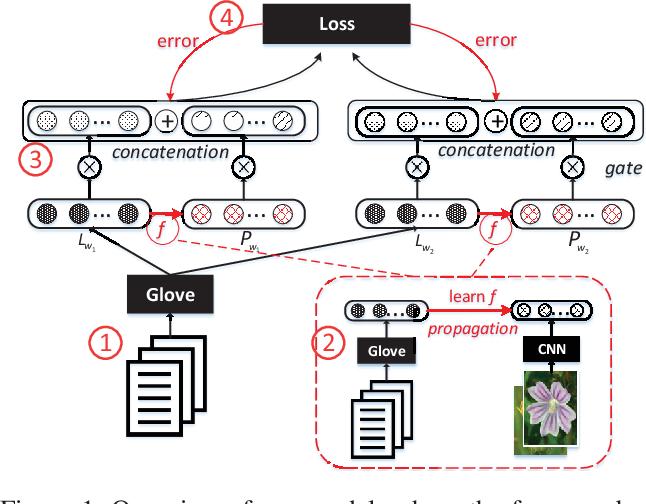 Figure 1 for Learning Multimodal Word Representation via Dynamic Fusion Methods