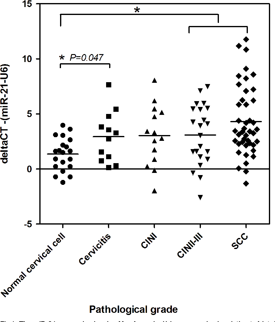 Up-Regulation of miR-21 Is Associated with Cervicitis and