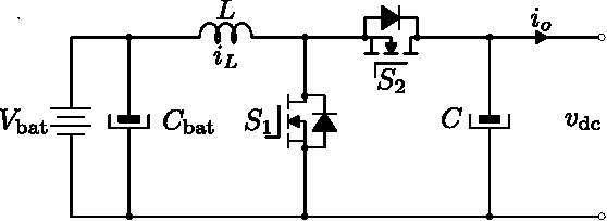 Fig. 3. Bidirectional dc-dc power converter in source-mode with droop control.