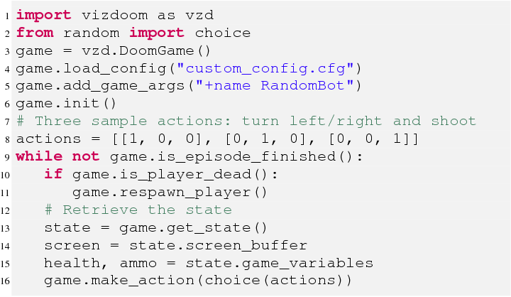 Figure 3 for ViZDoom Competitions: Playing Doom from Pixels