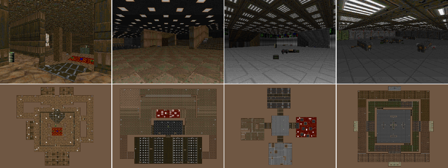 Figure 4 for ViZDoom Competitions: Playing Doom from Pixels