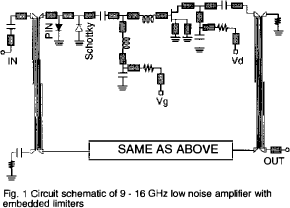 Figure 1 from A 9-16 GHz monolithic HEMT low noise amplifier with