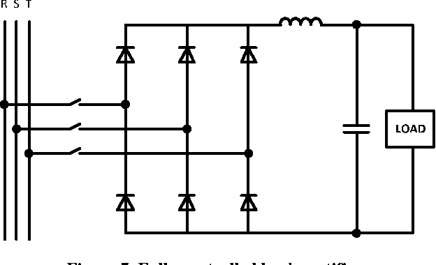 Figure 7. Fully controlled buck rectifier.