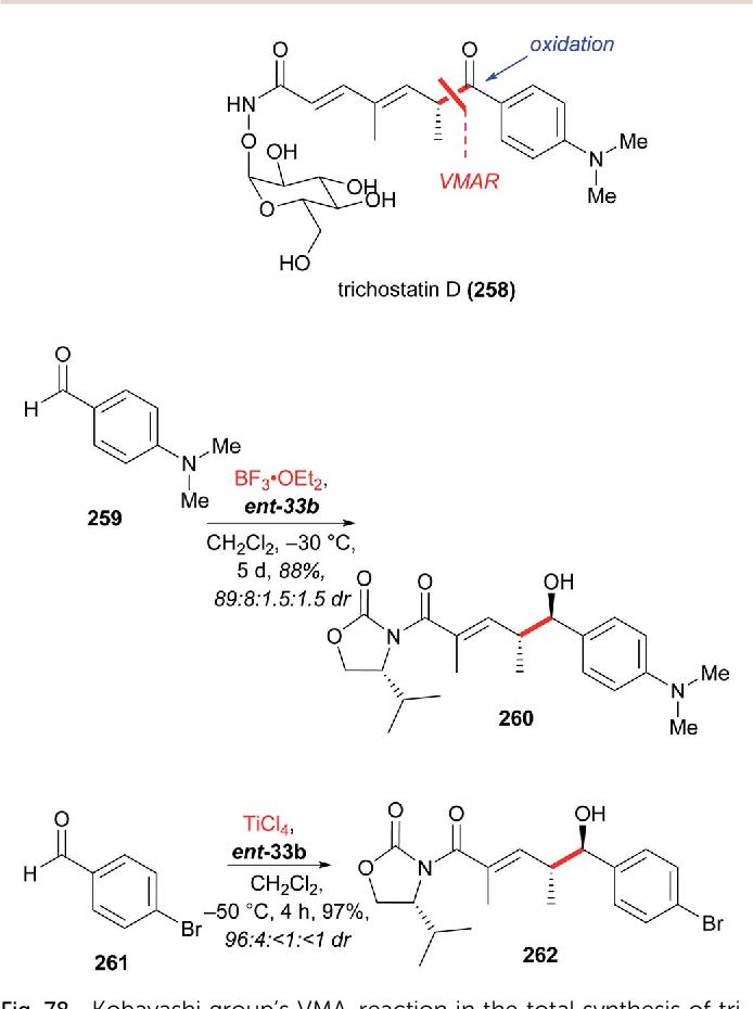 The Vinylogous Mukaiyama Aldol Reaction Vmar In Natural Product