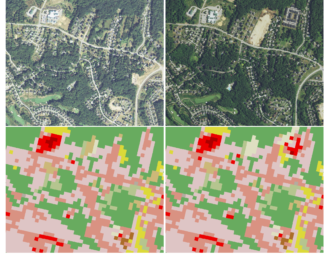 Figure 1 for High-resolution land cover change from low-resolution labels: Simple baselines for the 2021 IEEE GRSS Data Fusion Contest