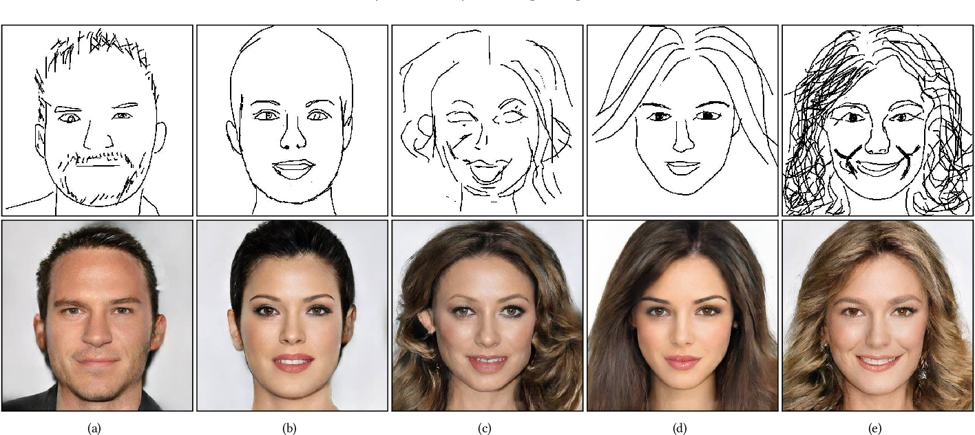 Figure 1 for Deep Generation of Face Images from Sketches