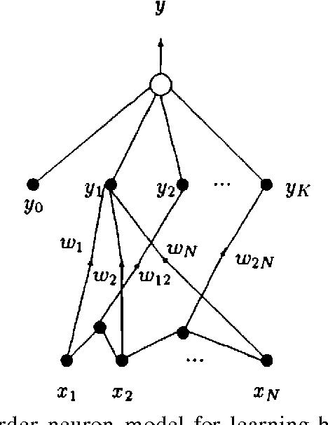 Figure 2.6: Higher order neuron model for learning higher order statistics of the input