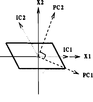 Figure 2.7: Principal component analysis and independent component analysis