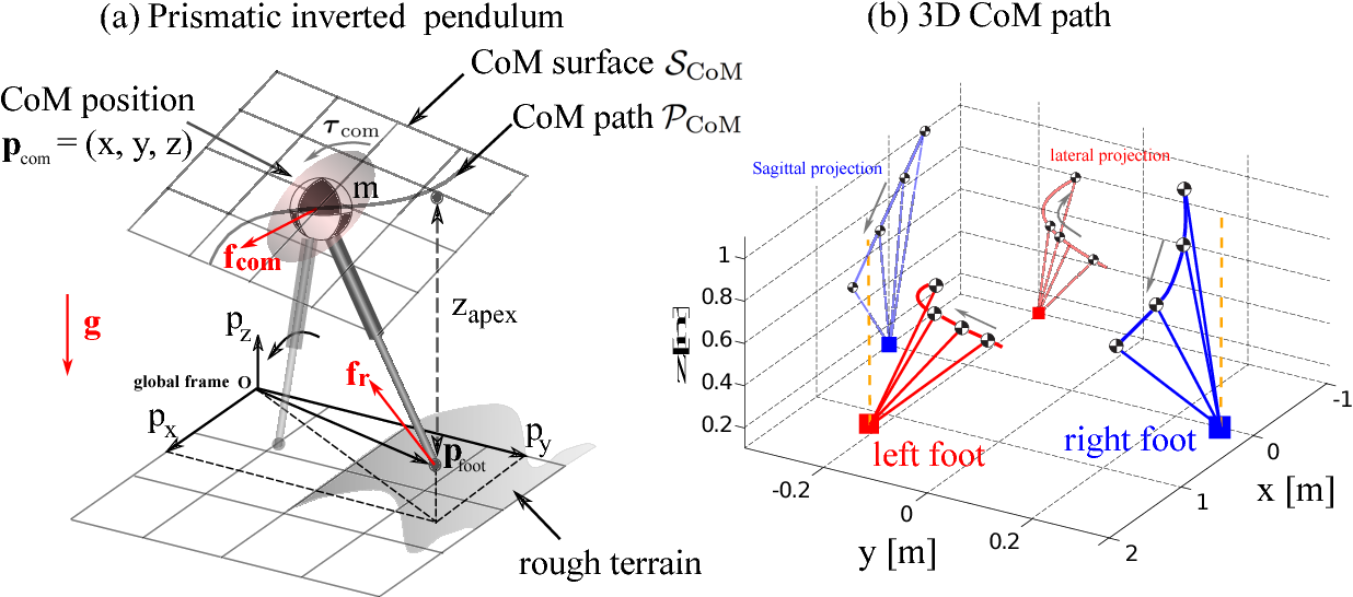 Figure 1 for Robust Optimal Planning and Control of Non-Periodic Bipedal Locomotion with A Centroidal Momentum Model