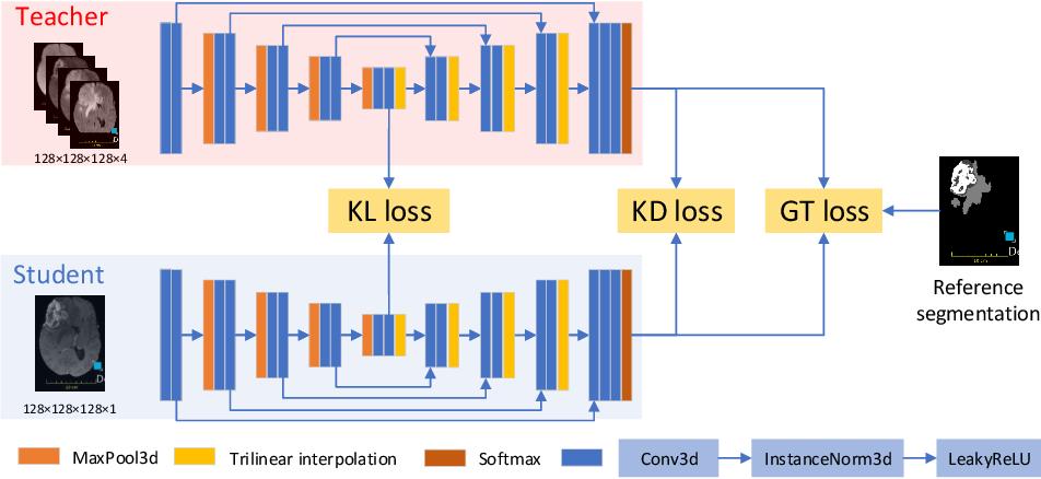 Figure 1 for Knowledge distillation from multi-modal to mono-modal segmentation networks