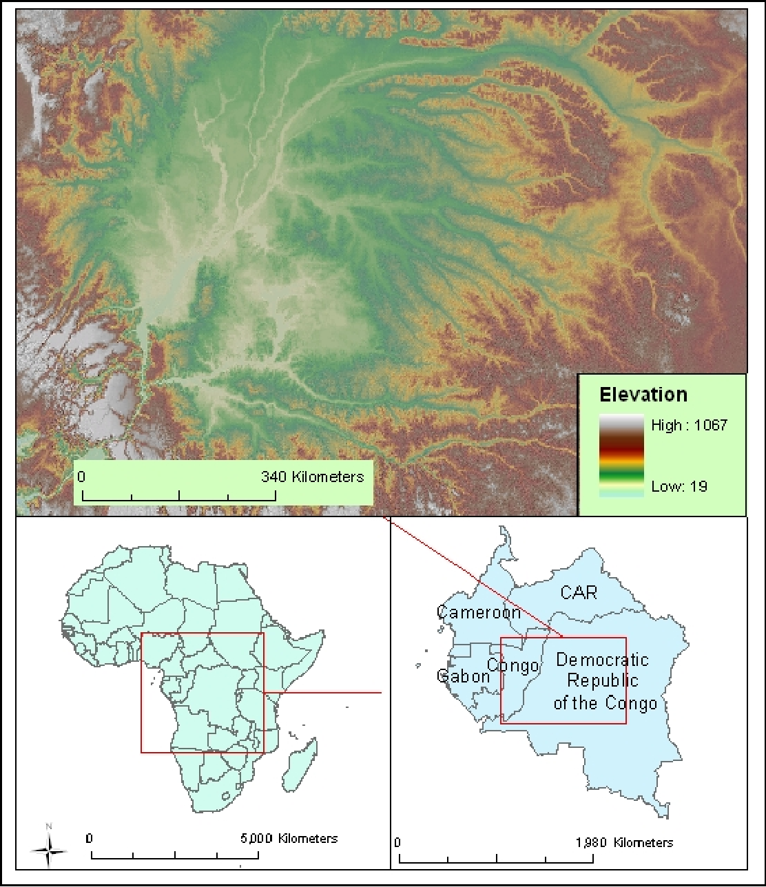Map Of Africa Congo River.Pdf Wetlands Mapping In The Central African Congo River Basin Using