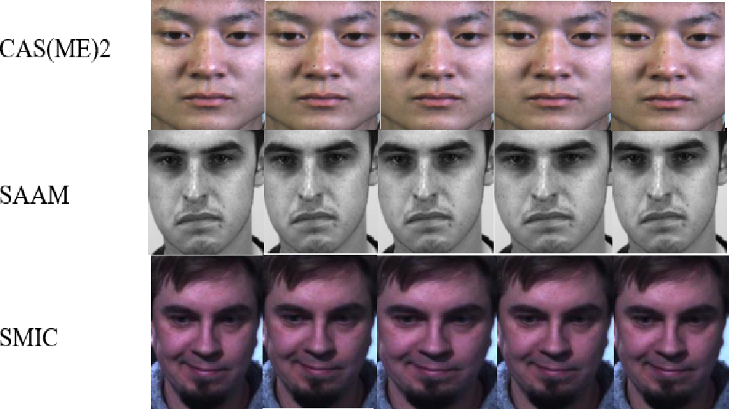 Figure 1 for Micro-expression spotting: A new benchmark