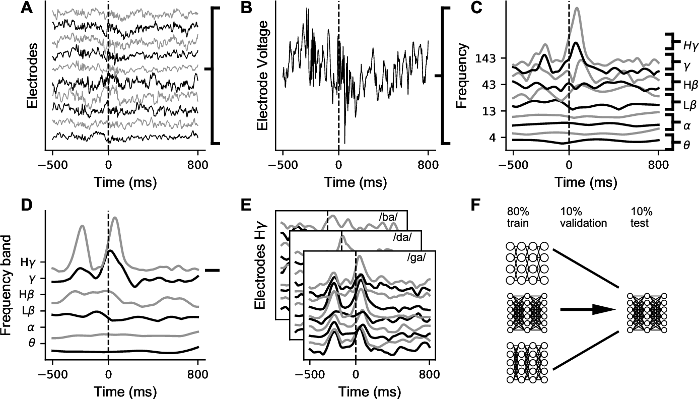 Figure 3 for Deep learning as a tool for neural data analysis: speech classification and cross-frequency coupling in human sensorimotor cortex