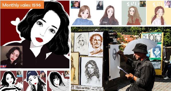 Figure 1 for Everyone is a Cartoonist: Selfie Cartoonization with Attentive Adversarial Networks