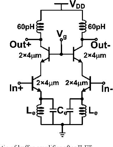 Fig. 12. Schematic of buffer amplifier after ILFT.