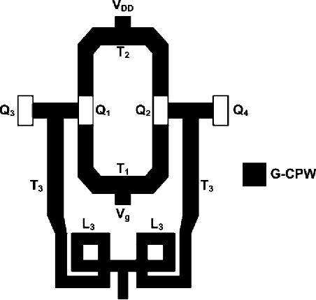 Fig. 14. Simplified layout floorplan of the ILFT (not to scale).