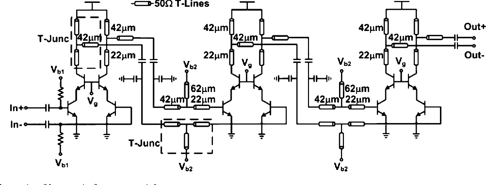 Fig. 17. Simplified schematic of harmonic frequency tripler.