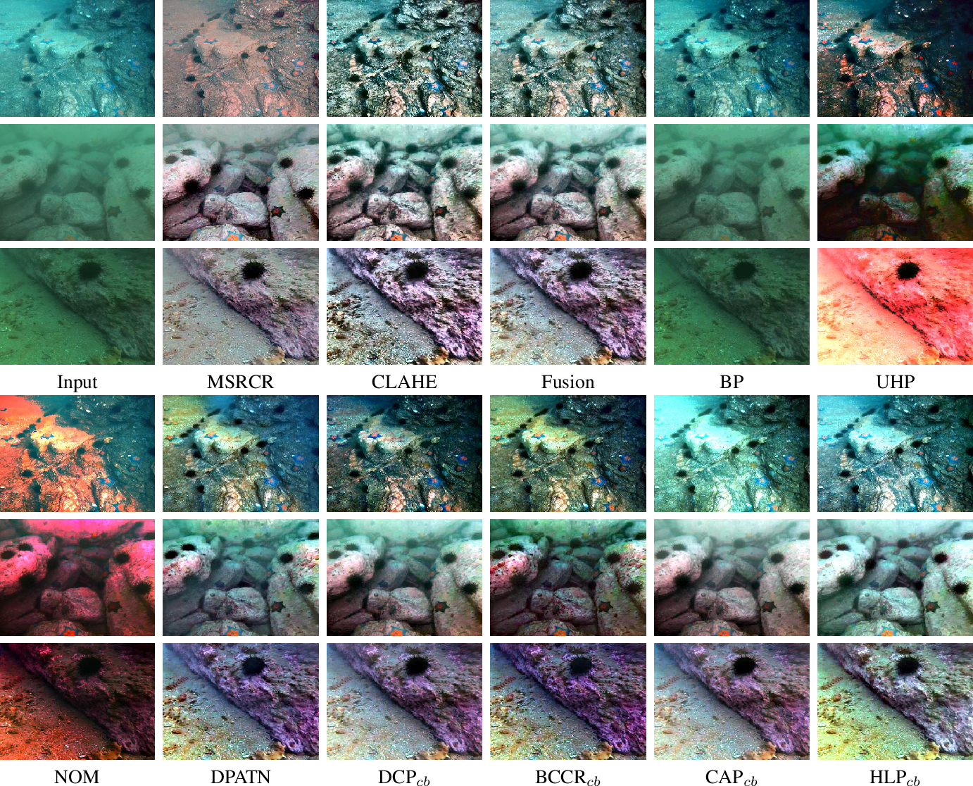 Figure 4 for Real-world Underwater Enhancement: Challenging, Benchmark and Efficient Solutions