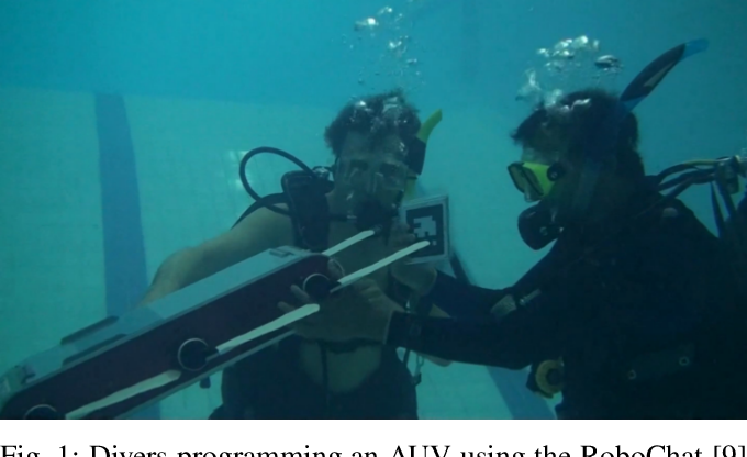 Figure 1 for Dynamic Reconfiguration of Mission Parameters in Underwater Human-Robot Collaboration