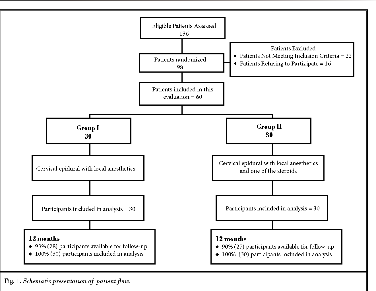 Fig. 1. Schematic presentation of patient flow.