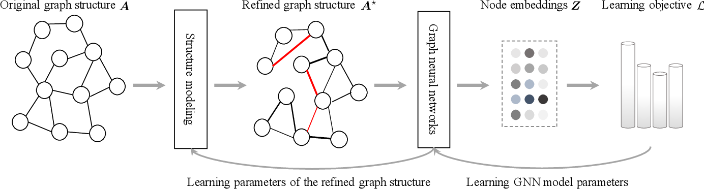 Figure 1 for Deep Graph Structure Learning for Robust Representations: A Survey