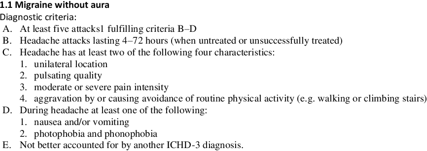 Figure 1 for A logic-based decision support system for the diagnosis of headache disorders according to the ICHD-3 international classification