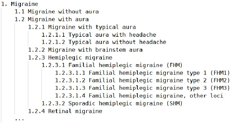 Figure 2 for A logic-based decision support system for the diagnosis of headache disorders according to the ICHD-3 international classification