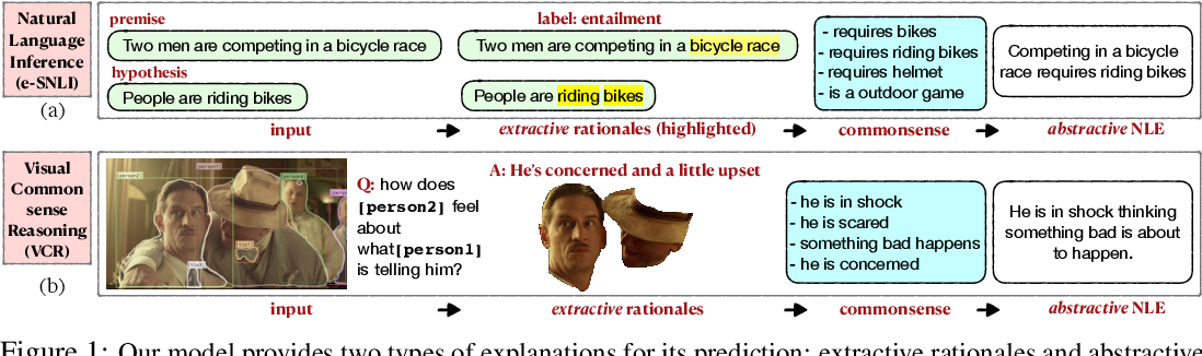 Figure 1 for Rationale-Inspired Natural Language Explanations with Commonsense