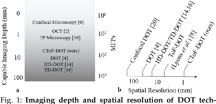 Figure 1 for High Resolution, Deep Imaging Using Confocal Time-of-flight Diffuse Optical Tomography