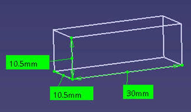 Fig. 1 Geometry of test specimen