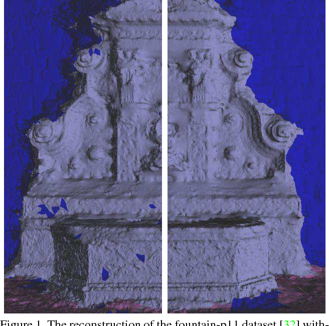 Figure 1 for Multi-View Stereo with Single-View Semantic Mesh Refinement