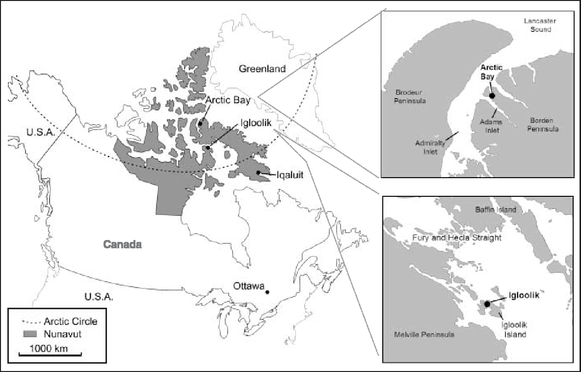 Inuit Map Black And White