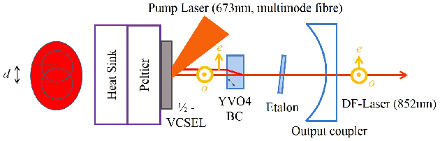 Strategies for noise reduction of a dual-frequency VECSEL dedicated
