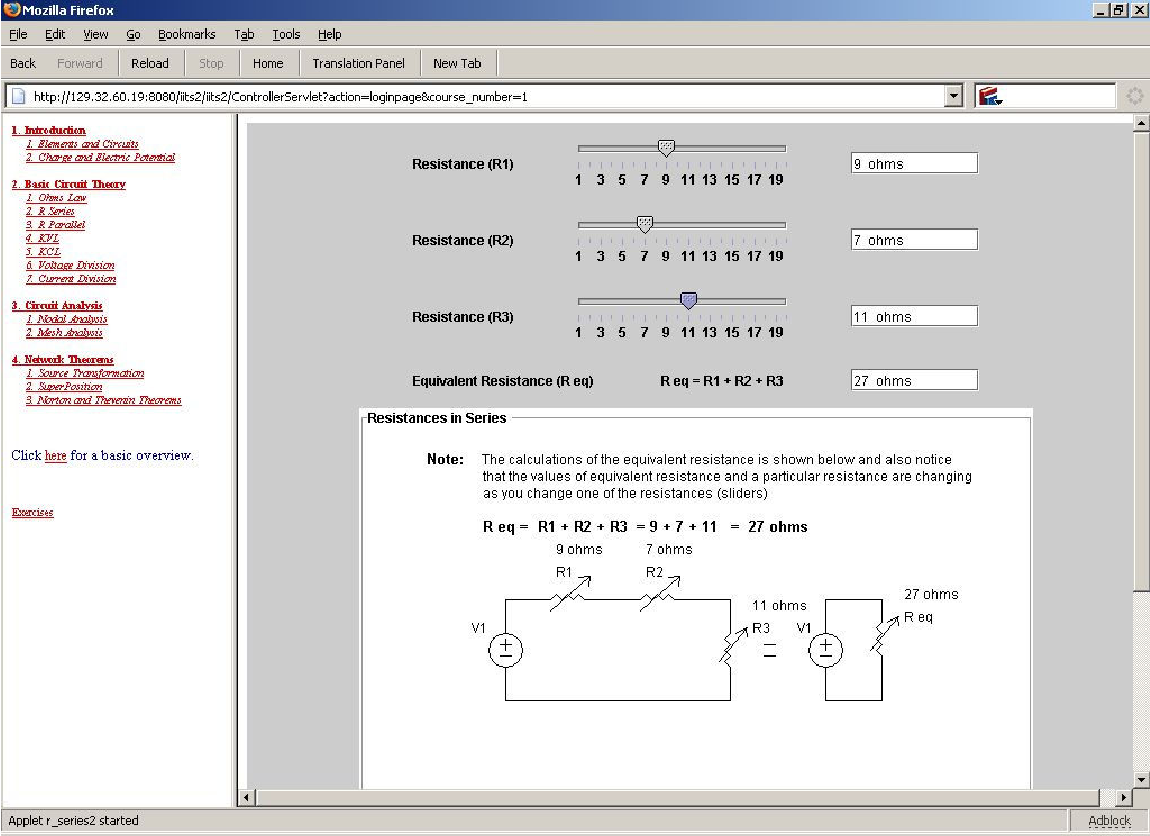 2006 2209 An Intelligent Interactive Tutoring System For Basic Engineering Circuit Analysis Software Mesh Electronic Figure 3