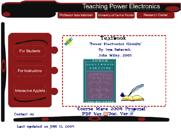 interactive java applets for power electronics e learning semantic
