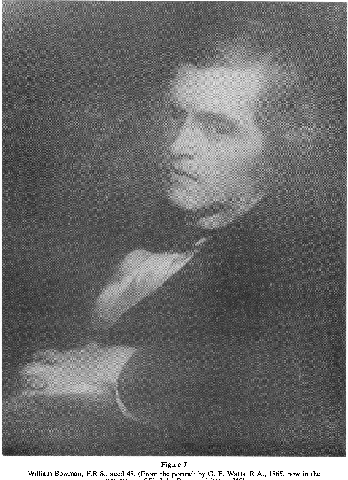 Figure 7 William Bowman, F.R.S., aged 48. (From the portrait by G. F.