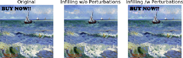 Figure 3 for Markpainting: Adversarial Machine Learning meets Inpainting