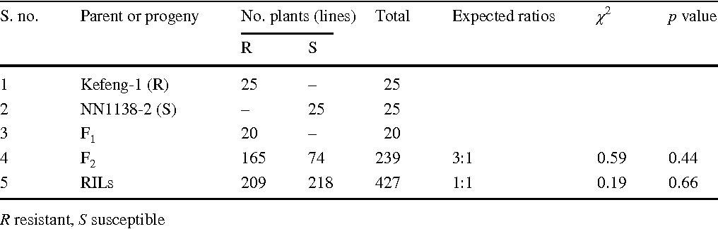Table 2 Genetic analysis of resistance to SMV strain SC5 in Kefeng-1, NN1138-2, and progenies